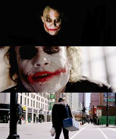 """""""It's a funny world we live in. Speaking of funny, do you know how I got these scars?"""" - The Joker, """"The Dark Knight"""""""