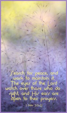 1 Peter 3:11-12...More at http://beliefpics.christianpost.com  #God #bible