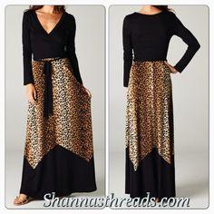 Long Leopard Maxi dress Shannasthreads.com