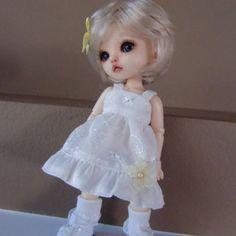 Cream Eyelet Dress for Lati Yellow and Pukifee by myfairdolly, $12.00