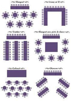 différentes configurations pour le plan de table - Marjorie Bonnard #Bonnard #configurations #de #différentes #Le #Marjorie #plan #pour #table