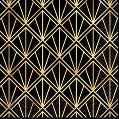 Our Glitz & Glam Beverage Napkins show off a metallic gold art deco design that is sure to add style to any celebration. Art Deco Stoff, Interiores Art Deco, Moda Art Deco, Motifs Art Nouveau, Art Texture, Art Deco Fabric, Led Wand, Estilo Art Deco, Mawa Design