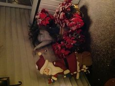 My Front Porch! ❄ Merry Christmas ❄ change the santa. for snowman Christmas Porch, Merry Christmas, Christmas Decorations, Front Porch, Snowman, Decorating Ideas, Santa, Change, Home Decor