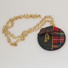 Collar largo cuadro escocés