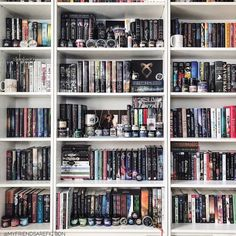 I added #bookishmerch to my shelves and cleaned up my #libraryroom What a project! One of these days Ill sort by color but currently the are by author (in no actual order).  @epicreads announced the #shimmyawards finalists and Im up for Booknerd of the year!!! Its unbelievable! Thank you to all that voted. If you want to vote in this round Ill put the link in my Linktree.  #bookshelfie #bookshelves #shelves #ikeashelves #bookhoarder #roomofbooks #personallibrary