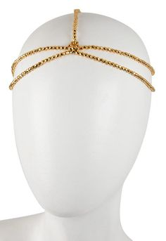 House of Harlow 1960 Gold Bead Five Strand Head Piece