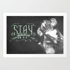 Stay Fabulous Art Print | Koala with handlettering