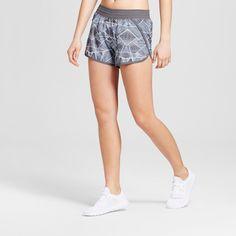 Women's Fashion Run Shorts - Military Blue Print Xxl - C9 Champion