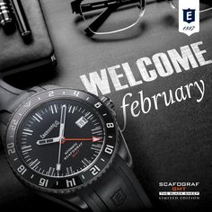 "Welcome February! An unique watch for the most ""original"" month of the year. Welcome February, Black Sheep, Months In A Year, Watches, The Originals, Unique, Clocks, Clock"