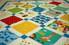 Baby Quilt in Bungle Jungle Charm Fabrics by MulberryPatchQuilts, $115.00