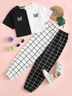 Really Cute Outfits, Cute Lazy Outfits, Crop Top Outfits, Stylish Outfits, Girls Fashion Clothes, Teen Fashion Outfits, Retro Outfits, Mode Adidas, Estilo Tomboy