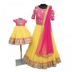 e3076edb01 Mother Daughter Combo Set Only at RachelBoutique.com Lehenga Gown, Long  Blouse, Mom