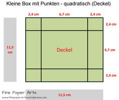 kleine box mit punkten quadratisch boden handwerk pinterest schachteln. Black Bedroom Furniture Sets. Home Design Ideas