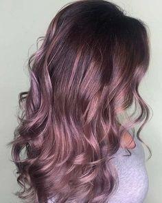 22 Pretty Mauve Hair Colors : Hair Color Ideas to Inspire - Mauve hair color #haircolor #mauvehair #hairstyleMauve vibes