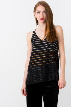 1b312eb27c145 Suzy Shier Embellished Cami Blouse