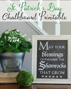 Last Minute St. Patrick's Day Decor - Hymns and Verses