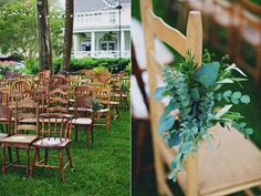 ceremony chairs - photo by Flora and Fauna http://ruffledblog.com/winterbourne-inn-wedding