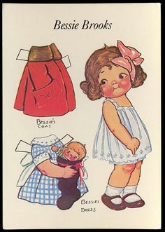 Bessie Brooks Dolly Dingle Friend Paper Doll Postcard 1985 Campbell's Soup Kid | eBay
