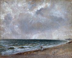 Constable, John (1776-1837) - 1824-28 Seascape Study: Brighton Beach Looking West (Royal Academy of Arts, London) | por RasMarley