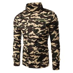 High Quality Winter Spring Men Leisure Camouflage Tooling jacket Casual Slim Fit Men Coat  2 Colors