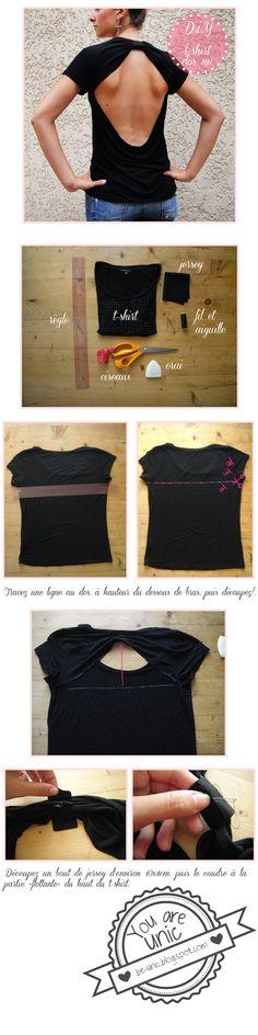 T-shirt dos nu