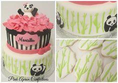 panda cake and cookies