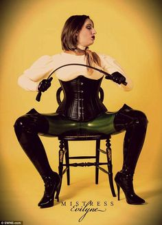 Mistress Evilyne, a former Exeter University student who has been a dominatrix for two years, insists she is registered with the HMRC and operates a legal business, which is 'all above board' East London, London City, Tennis Clubs, Dominatrix, Mistress, Corset, Love Her, Goth, Wonder Woman