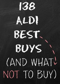 What to buy in Aldi...and what NOT to buy in Aldi. A Thrifty Mrs runs you through her picks of the best items to buy from budget supermarket ALDI along with items she suggests you steer clear of. Now will you switch your shop to the budget store?