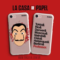 Capinhas inspired by the La Casa de Papel series. Netflix Original Series, Netflix Series, Netflix Home, Cool Art Drawings, Cell Phone Covers, Cute Cases, Paper Houses, Coque Iphone, Iphone Wallpaper