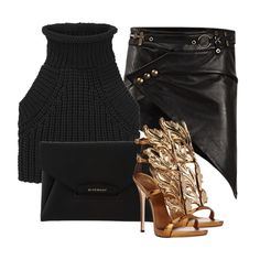 Untitled #1142 by elinaxblack on Polyvore featuring polyvore, fashion, style, Alexander Wang, Anthony Vaccarello, Giuseppe Zanotti and Givenchy