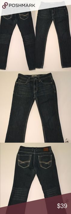 "👖BKE👖Aiden Distressed Straight Leg Jeans BKE Men's Aiden Distressed Straight Leg Dark Wash Jeans 31L. This Jeans Are In Great Condition And Have An Awesome Look-Size 31L.                                                Measurements:                                       Waist-31""                                                                Inseam-32""                                                 Rise-9"" BKE Jeans Straight"