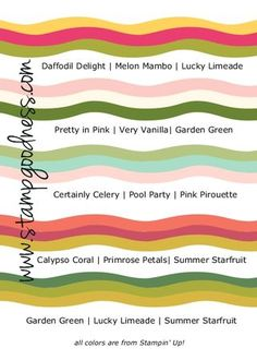 Five Spring Color Combos Stampin Up