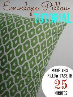 Easy to make Envelope Pillows (great tutorial!)