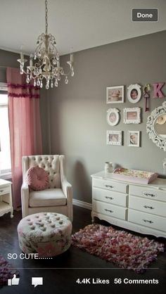 Little girl room but with purple not pink
