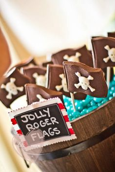 Pirate Themed 5th Birthday Party - Kara's Party Ideas - The Place for All Things Party (So many great Ideas!)