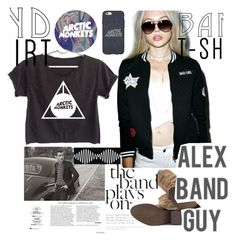 """""""am"""" by bellanab117 ❤ liked on Polyvore featuring Naughty Monkey, Casetify, bandtshirt and bandtee"""