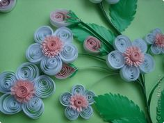 Painting mural drawing on March 8th Birthday Quilling Apple tree in bloom Photo Paper 3