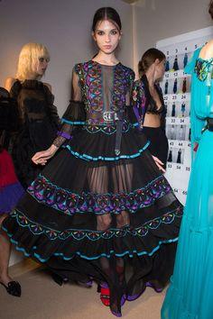 Alberta Ferretti at Milan Fashion Week Spring 2017 - Backstage Runway Photos