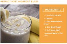 Try this smoothie recipe for a great post workout blast #NutriBlastLife