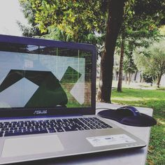 Working: like a boss. Digital Creative Agency, Creative Jobs, Like A Boss, Relax, Trees, Outdoors, Graphic Design, Workout, Park