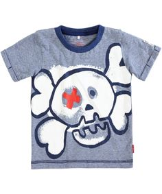 Name It stoere marine gestreepte t-shirt met doodshoofd. name-it.nl.emilea.be