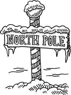 This is a map of the Village at the North Pole on CLAUS