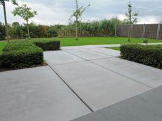 Inspiratie: betonnen vloerplaten in de tuin - woonmooi