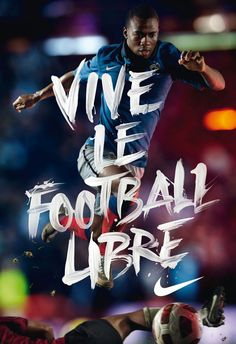 hand brushed typography - Vive le football libre - www.pierrejeanneau.com