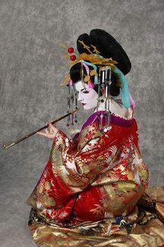 Oiran 2 by Glasmond on DeviantArt Mega Fashion, Colorful Fashion, Japanese Culture, Japanese Art, Japanese Beauty, Asian Beauty, Kimono Chino, Female Dragon, Dragon Lady