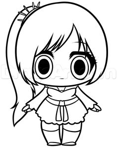 Chibi Pokemon Coloring Pages Step 8 How to Draw Chibi Katniss