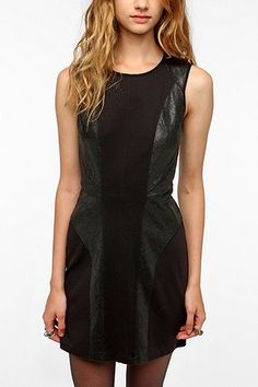 Urban Outfitters, Silence & Noise Leatherette Dress, $79.00