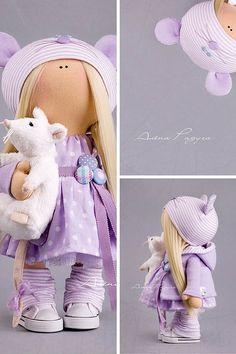 Baby Puppe Spielzeug Tilda Puppe Interior von AnnKirillartPlace