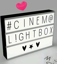 A4 Cinematic Light Box Letter number symbol Cinema Sign Wedding Party Shop Decor