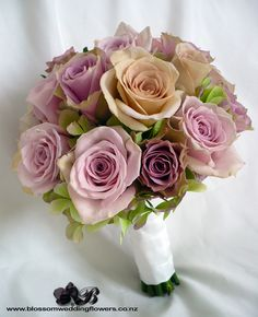 dusky-pink-rose-bouquet by Blossom Wedding Flowers Pink Rose Bouquet, Pink And Purple Flowers, Rose Wedding Bouquet, Bridal Flowers, Bridesmaid Bouquet, Pink Roses, Bridal Bouquets, Dusky Pink Bridesmaids, Dusky Pink Weddings